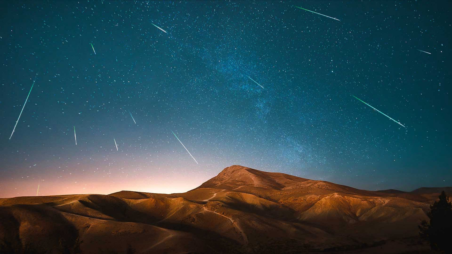 Quatro chuvas de meteoros visíveis juntas neste verão