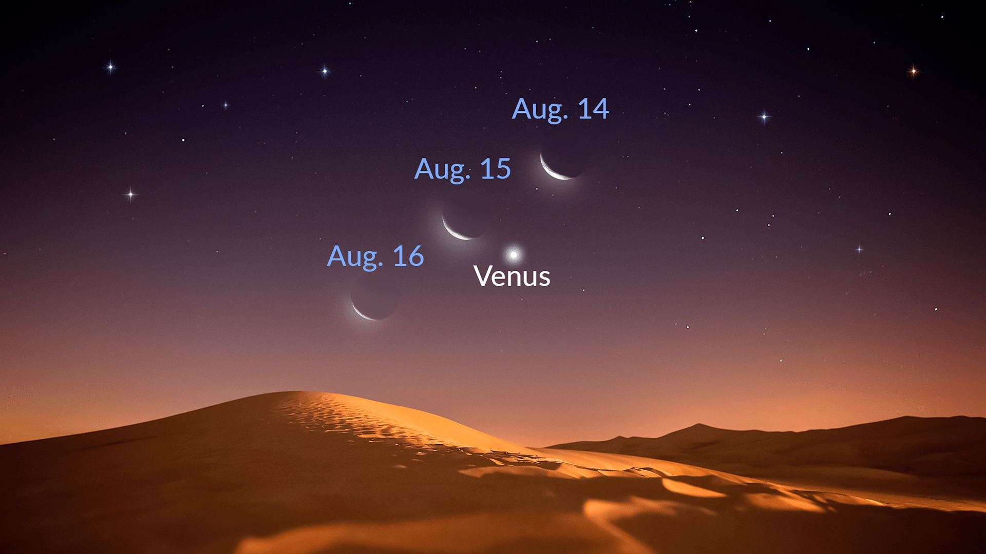The Moon Joins Brilliant Venus in the August Sky